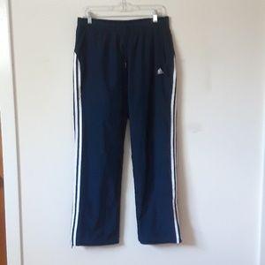 ADIDAS 3 stripe navy windbreaker/track pants M